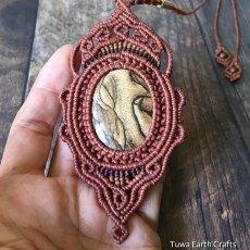 画像14: 【聖なる石】ピクチャージャスパー(オーストラリア産)ネックレス/ペンダント*マクラメ天然石アクセサリー (14)