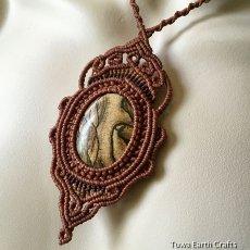 画像9: 【聖なる石】ピクチャージャスパー(オーストラリア産)ネックレス/ペンダント*マクラメ天然石アクセサリー (9)