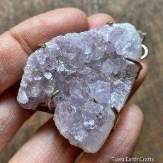画像5: 大ぶりビッグサイズ♪【浄化・癒し】1点物 アメシスト/アメジスト原石クラスター ペンダントトップ*2月誕生石 紫水晶 鉱物 パワーストーン天然石 アクセサリー (5)