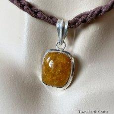 画像8: 1点物 オレンジカルサイト ペンダントトップ*パワーストーン天然石アクセサリー (8)