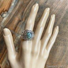 画像13: 1点物 ラブラドライト(カナダ産)シルバーリング 個性的デザイン 指輪 16号 天然石パワーストーンアクセサリー (13)
