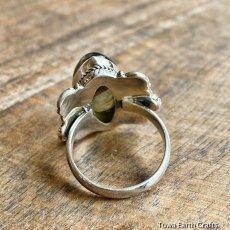 画像20: 1点物 高品質ラブラドライト(カナダ産)シルバーリング 神秘的ディープブルーシラー 指輪 14号 天然石パワーストーンアクセサリー (20)