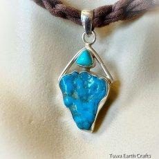 画像12: 青空色♪ 高品質ターコイズ原石(スリーピングビューティー)ペンダントトップ*天然石パワーストーンアクセサリー  ヒーリングジュエリー  (12)