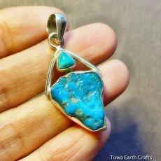 画像8: 青空色♪ 高品質ターコイズ原石(スリーピングビューティー)ペンダントトップ*天然石パワーストーンアクセサリー  ヒーリングジュエリー  (8)