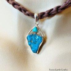 画像10: 青空色♪ 高品質ターコイズ原石(スリーピングビューティー)ペンダントトップ*天然石パワーストーンアクセサリー  ヒーリングジュエリー  (10)