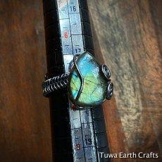 画像9: 1点物 サイズ調節可能 高品質ラブラドライト リング指輪 ワイヤーアート11号12号13号14号16号17号 天然石ヒーリングストーンジュエリー お守りアクセサリー (9)