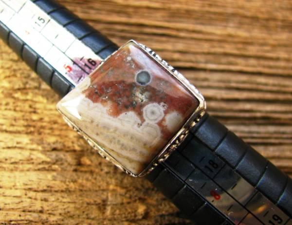 画像1: 癒しの天然石オーシャンジャスパー指輪リング12号 (1)