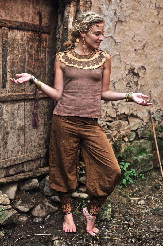 画像1: 地球に優しい手織り・手染めカディコットンのトライバルクイーントップ*フェアトレード/ナチュラル/エスニック/ネイティブ (1)
