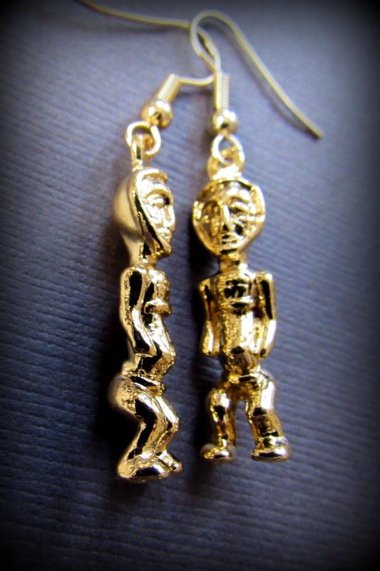 画像1: カナダ発ブランドMOSEKA アンセストラルジュエリーコレクション カナダ製 14K 金 イエローゴールド シンボリックピアス La fertilité (1)